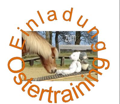 Pony Amadeus und zwei Plüschhasen auf einer Wippe