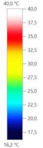 Thermografie vor und nach dem Wippen