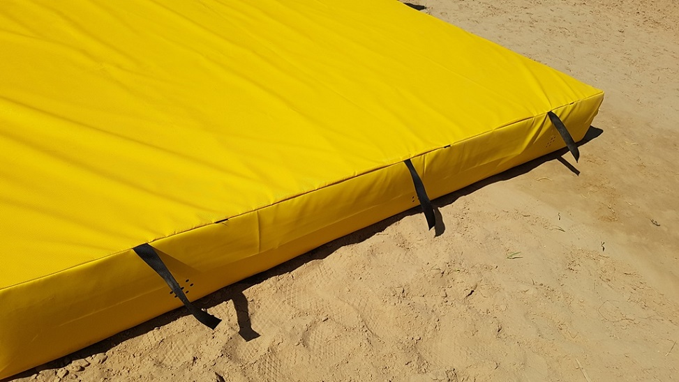 Gelbe Turnmatte