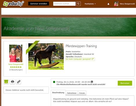 Kostenloses Pferdewippen-Webinar