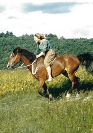 Nina Steigerwald riding bareback canter