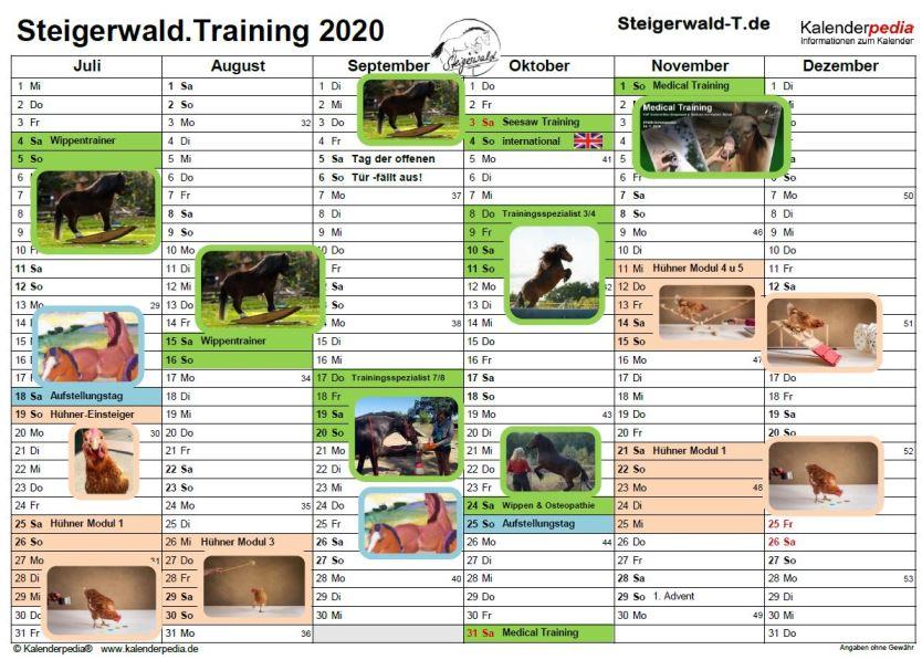 (Deutsch) Termine 2020 auf Hof Steigerwald[en:]dates 2020 at Hof Steigerwald